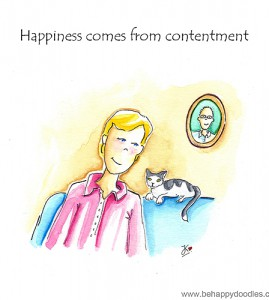 Happiness comes from contentment